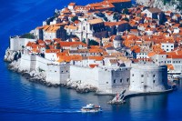 Dubrovnik, top-view of town and sea. Croatia.